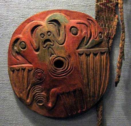 Amuleto Windigo nativo, en el Museo de Historia Natural de Nueva York.